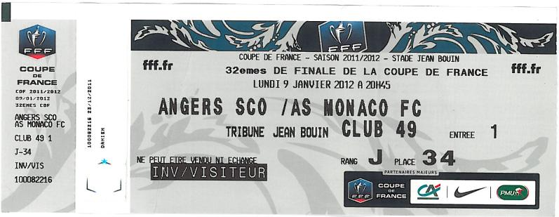Billets as monaco fc des matches en coupe de france - Billet finale coupe de france ...