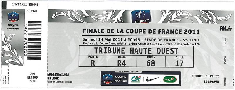 Billets as monaco fc des finales - Billets finale coupe de france ...